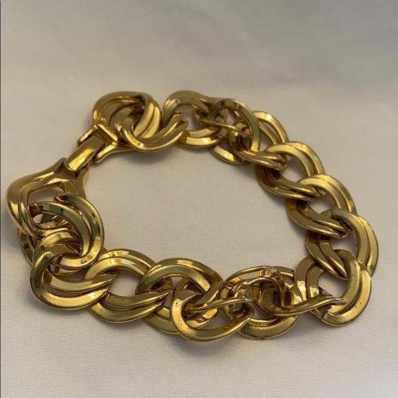Vintage Monet Gold Interlocking Circle Bracelet